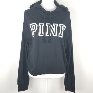 Vs pink hoodie graphic sweater Sz L black
